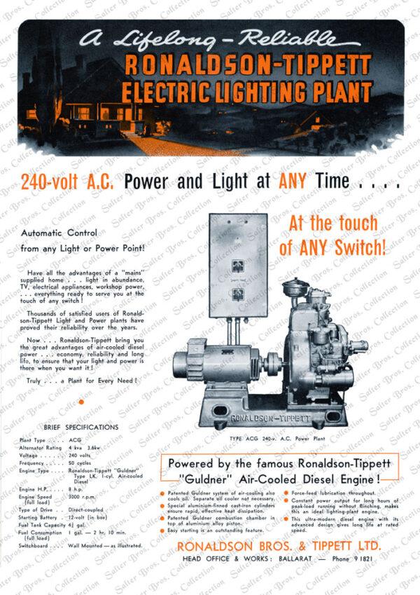 Ronaldson Tippett ACG Guldner Engine Poster