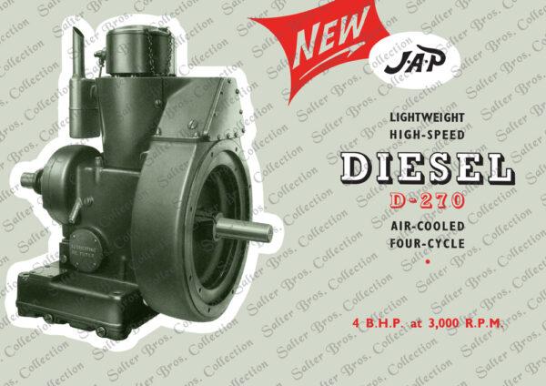 JAP D-270 Diesel Poster