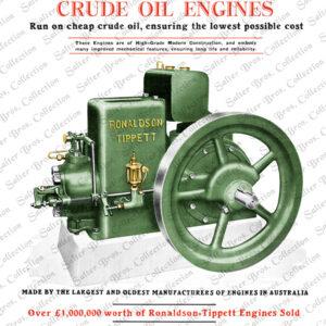 Ronaldson Bros. & Tippett Type CA Diesel Engine Poster