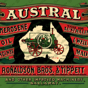 Ronaldson Tippett Austral Kerosene Engine Poster