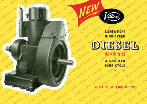 Villiers D-270 Diesel Engine Poster