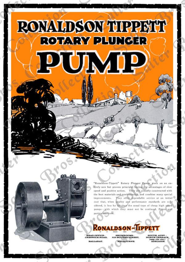 Ronaldson Tippett Rotary Pump Poster