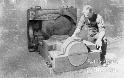 Moulding a tractor transmission case