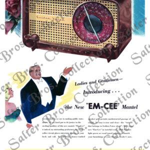 Golden Voice Healing Radio EM-CEE Mantel
