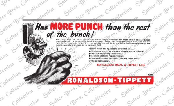 Ronaldson Bros. & Tippett Type N Advert
