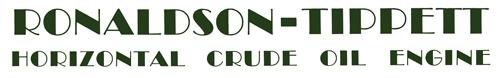 Ronaldson Tippett Horizontal Crude Oil Engine