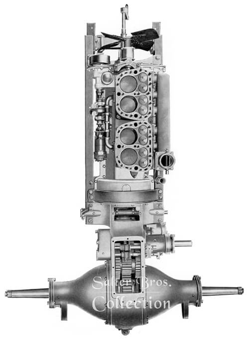 Top View of Super Drive Engine and Transmission Gear