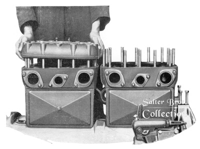 Detachable cylinder heads